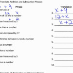 1.5: Translating Words Into Mathematical Phrases (Part 1)
