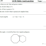 10 Gcse Maths Higher Homework Revision (9-1) Part 1 -Includes All Answers