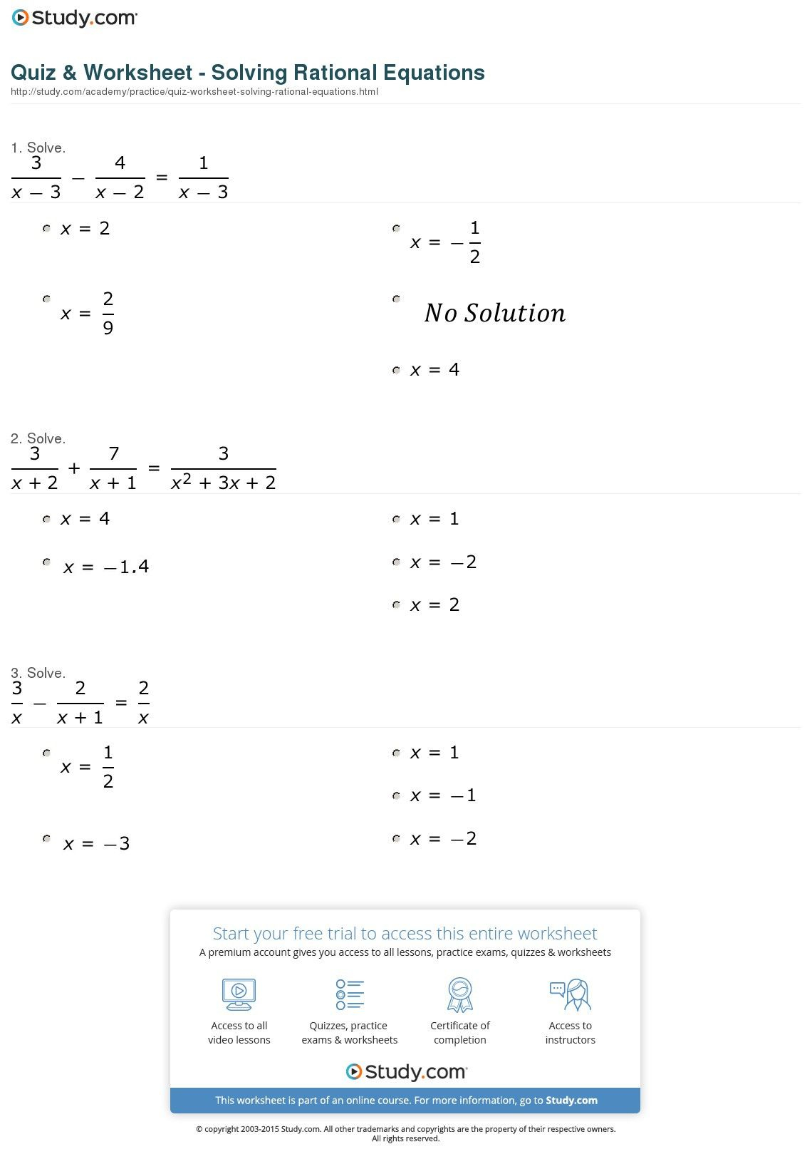 2 Algebraic Expressions Worksheets With Answers In 2020