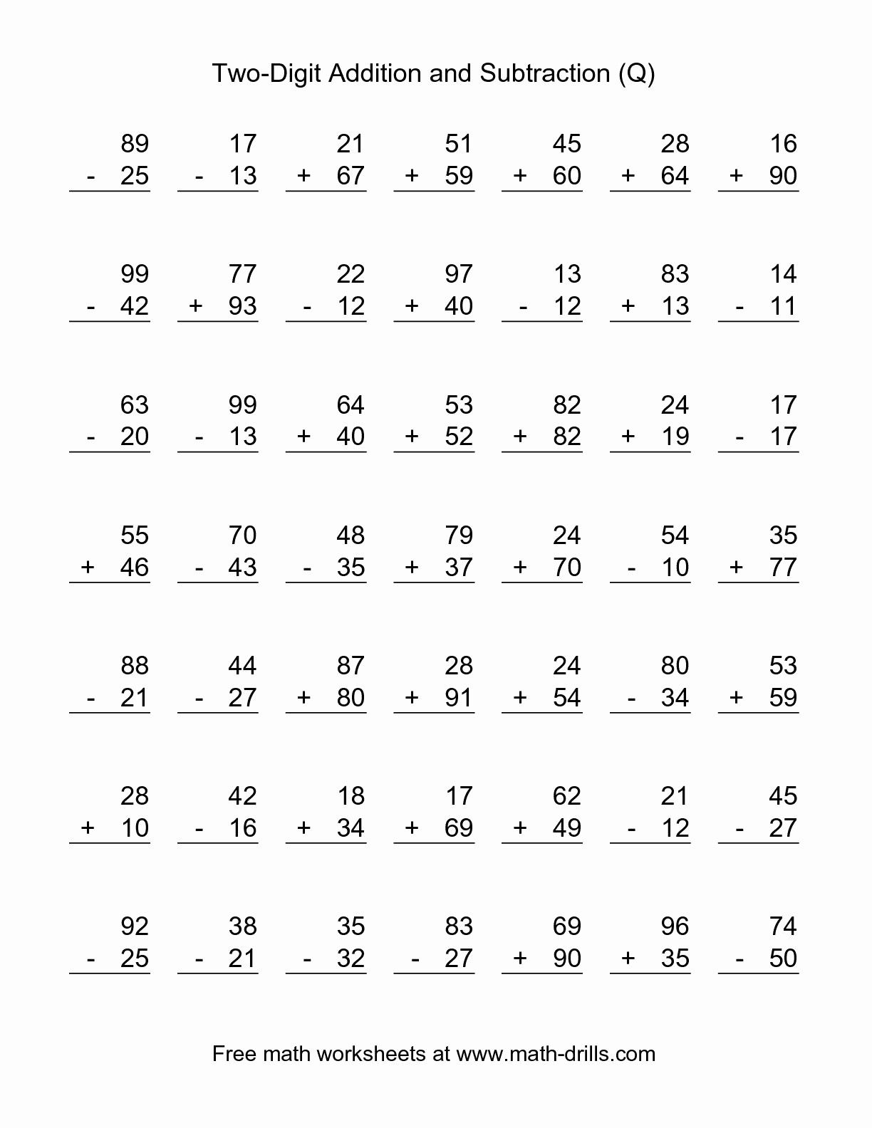 2Nd Grade Math Worksheets Printable Second Free For John