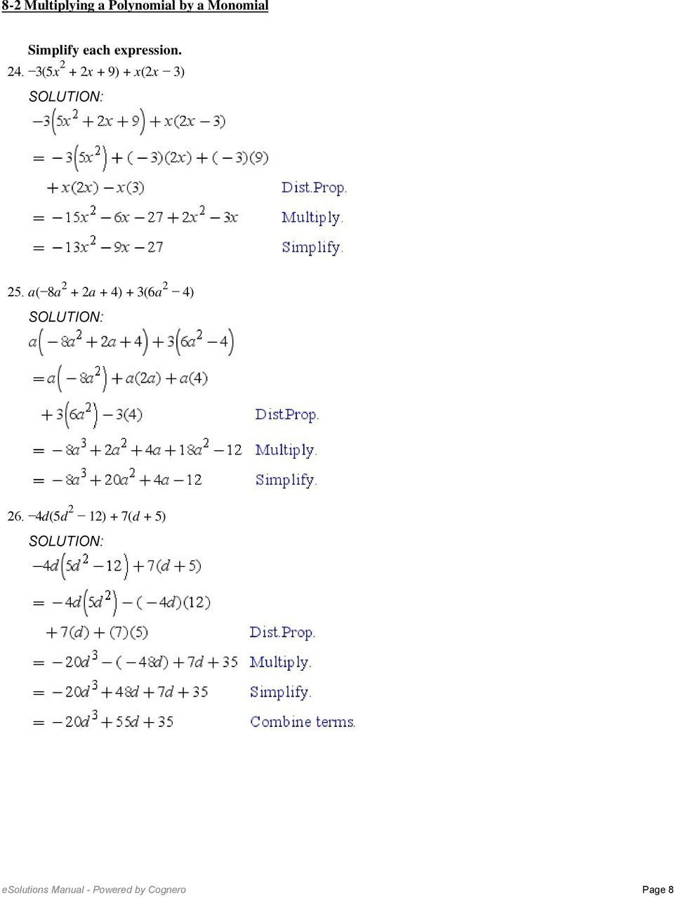 3 Adding And Subtracting Polynomials Worksheet 2 8 2