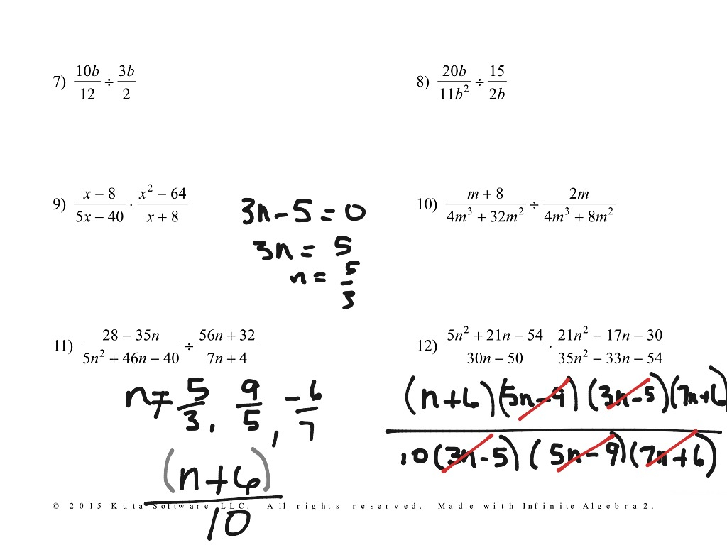 4.04 Multiply And Divide Rational Expressions | Math
