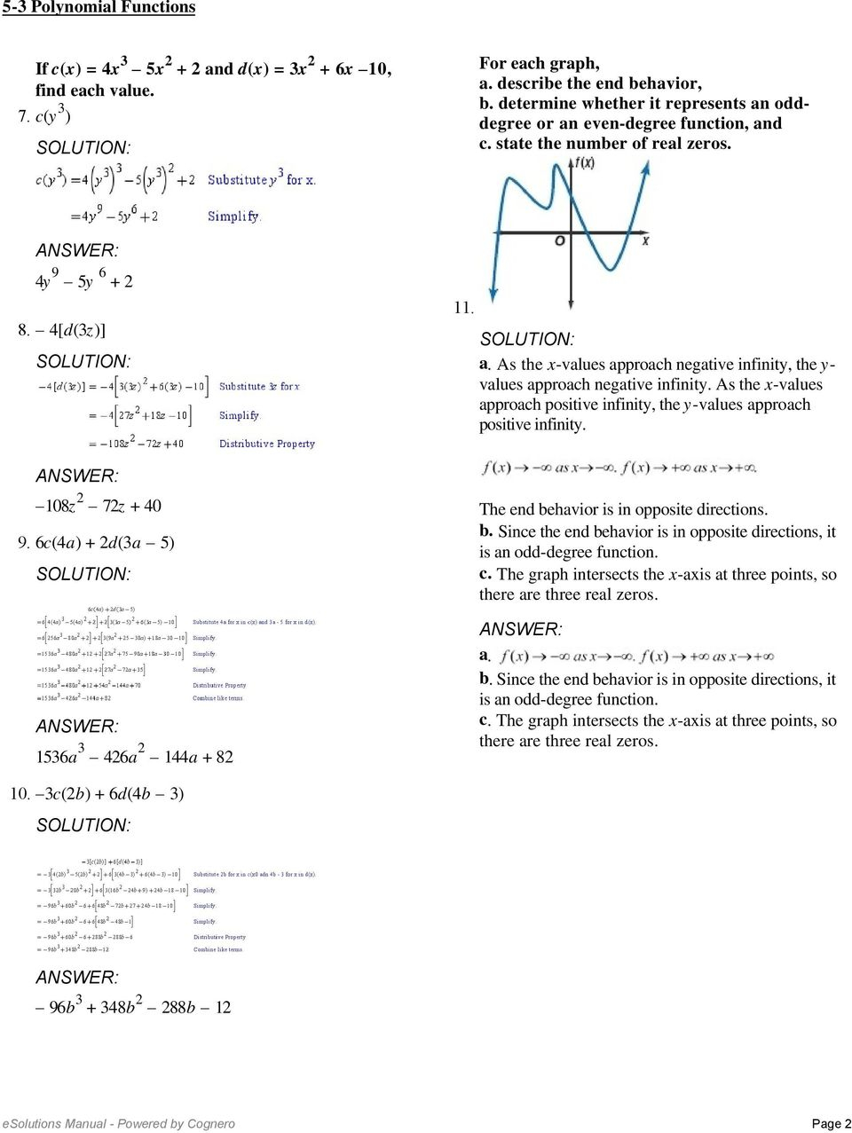 5-3 Polynomial Functions. Not In One Variable Because There