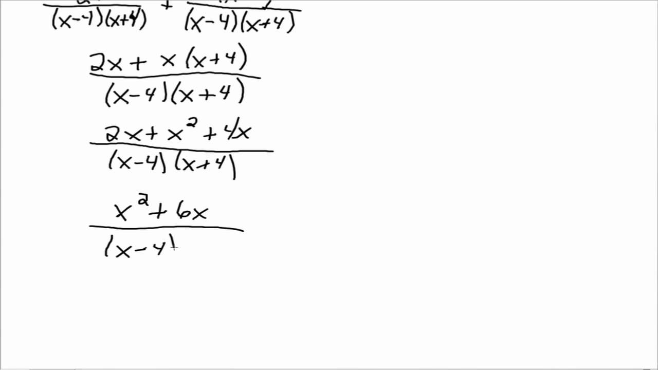 53 Staggering Adding And Subtracting Rational Expressions