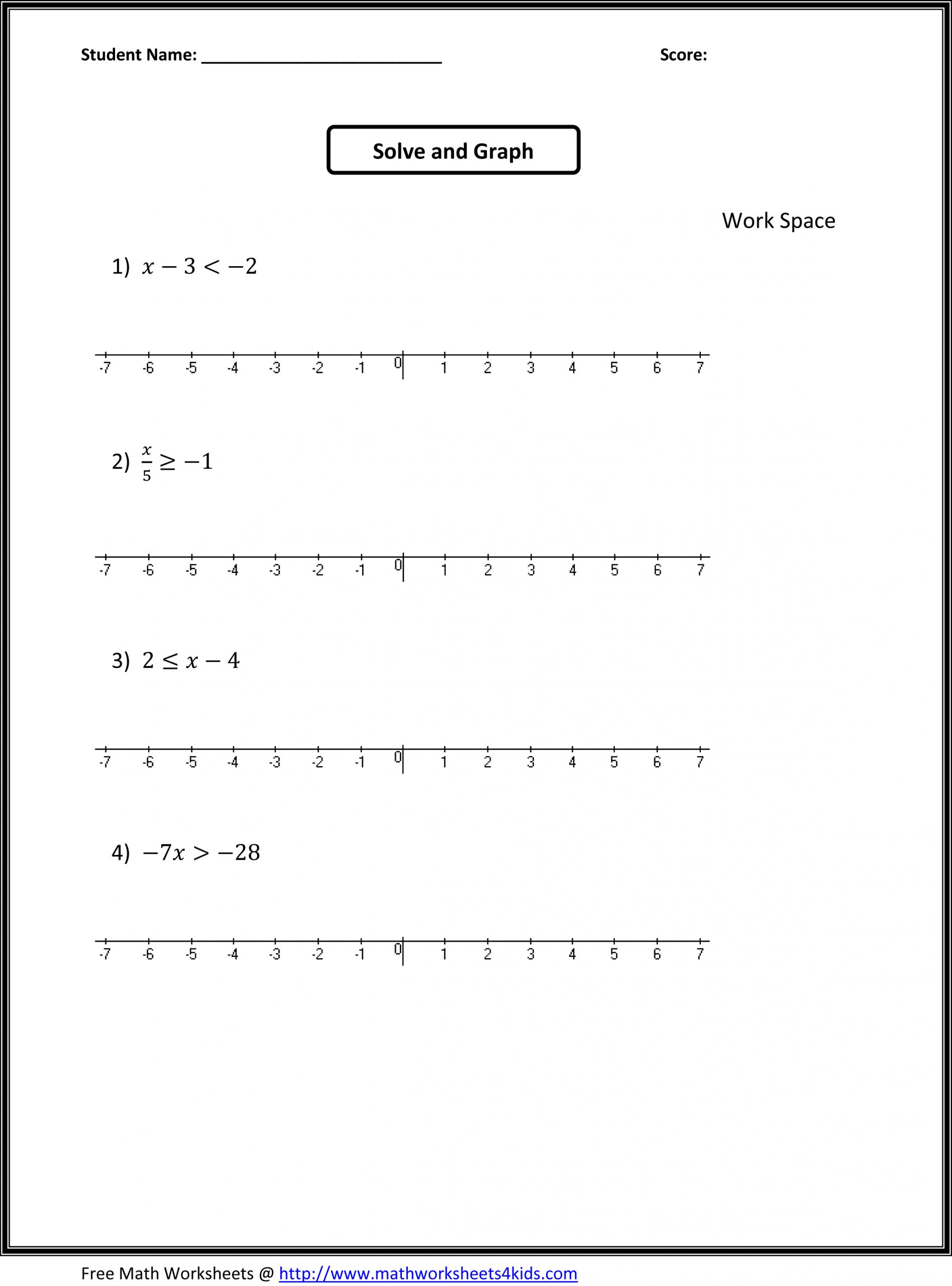 56 Awesome 7Th Grade Math Worksheets Picture Inspirations