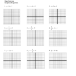Algebra 1 Graphing Equations And Systems Worksheet Slope