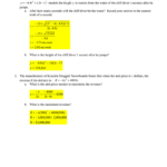 Algebra 2 Name Chapter 5 Review - Word Problems