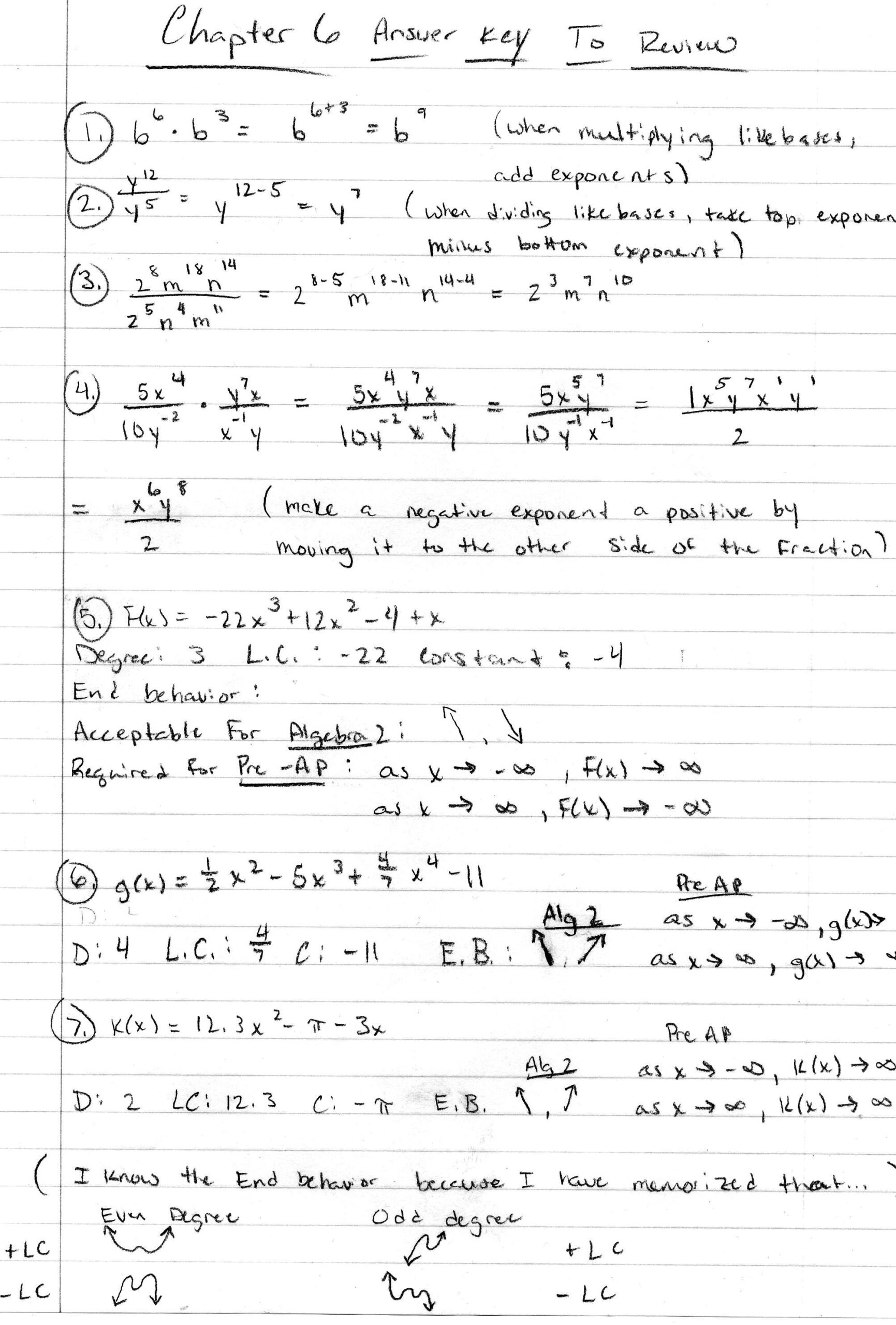 Algebra Pdfs Mr Deibel Worksheets With Answer Ch Test Review