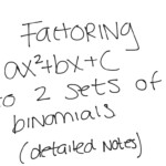 Algebra Worksheet Section 105 Factoring Polynomials Of The
