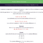 Arithmetic Sequences Worksheet - Edplace