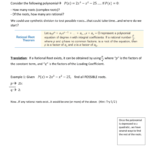 Ch 4-4 The Rational Root Theorem