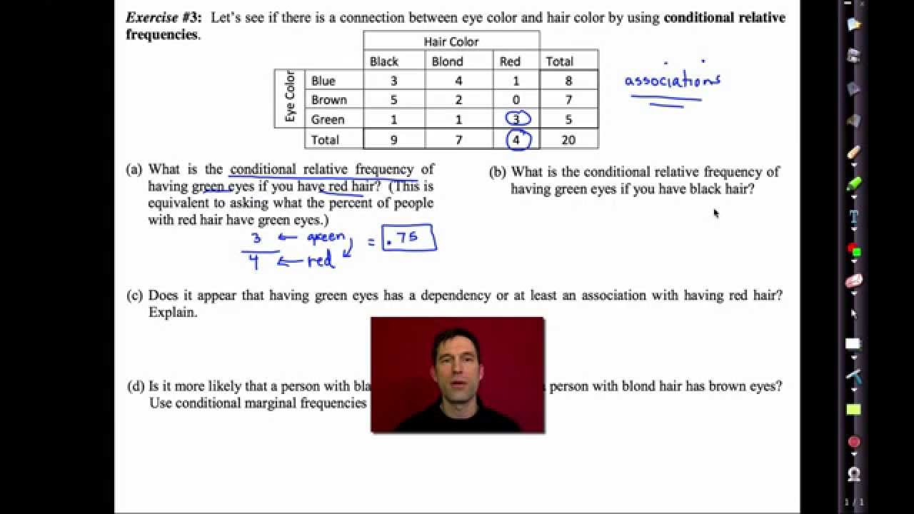 Common Core Algebra I.unit #10.lesson #5.two Way Frequency Tables Emathinstruction
