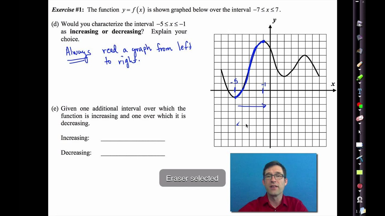 Common Core Algebra I.unit #3.lesson #4.graphical Features Of Functions