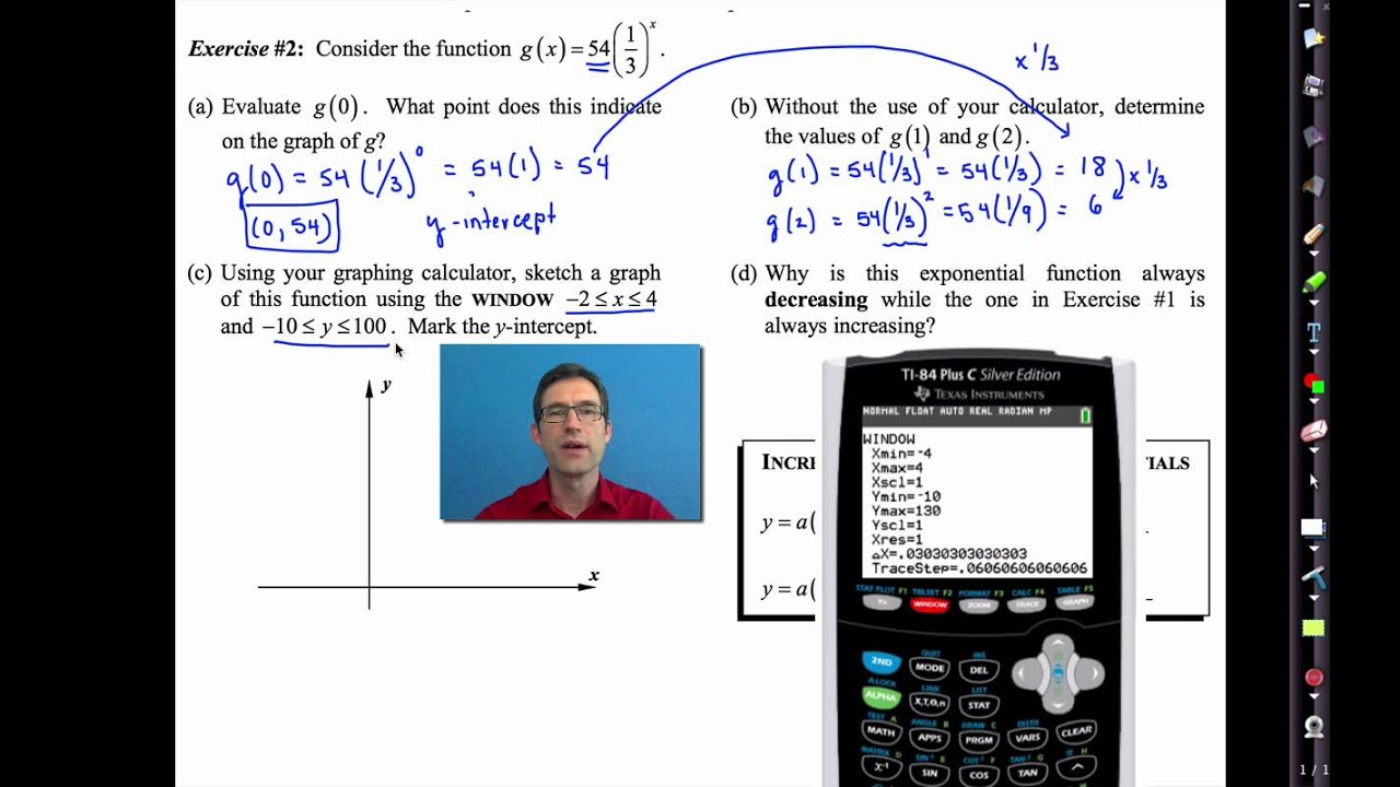 Common Core Algebra I.unit #6.lesson #4.introduction To Exponential  Functions