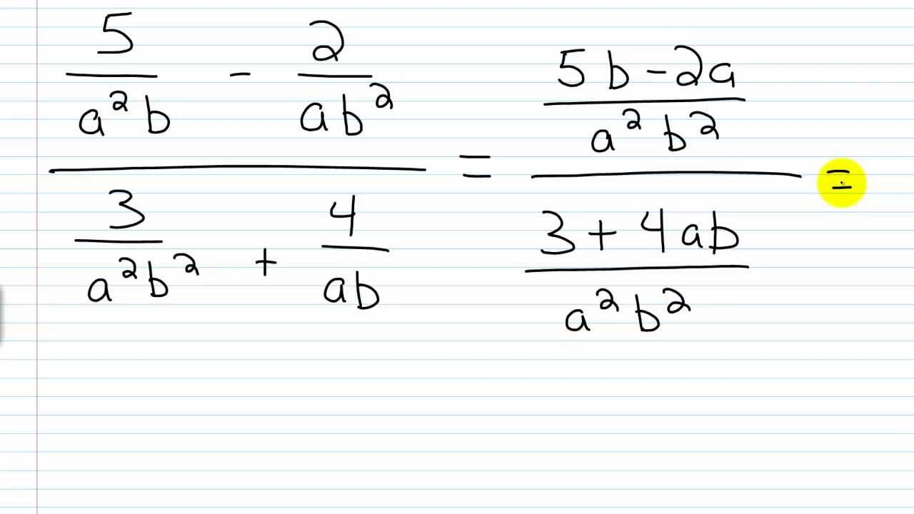 Complex Rational Expressions - Lessons - Tes Teach