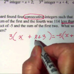 Consecutive Integer Word Problems 2