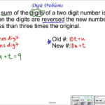 Digit Word Problems (Solutions, Videos, Examples)