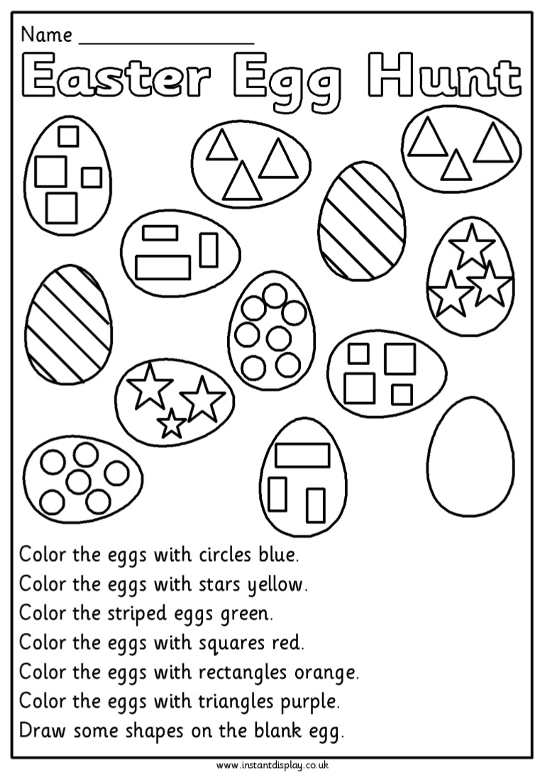 Easter Mathematics Worksheets For 1St Grade First Eggmaths