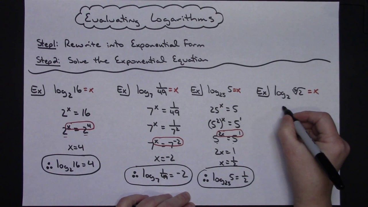 Evaluating Logarithms Without A Calculator | Math Tutorials