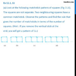 Ex 11.1, 11 - (A) Look At The Following Matchstick Pattern