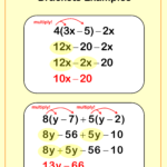 Expanding And Simplifying Brackets Example | Math Worksheet