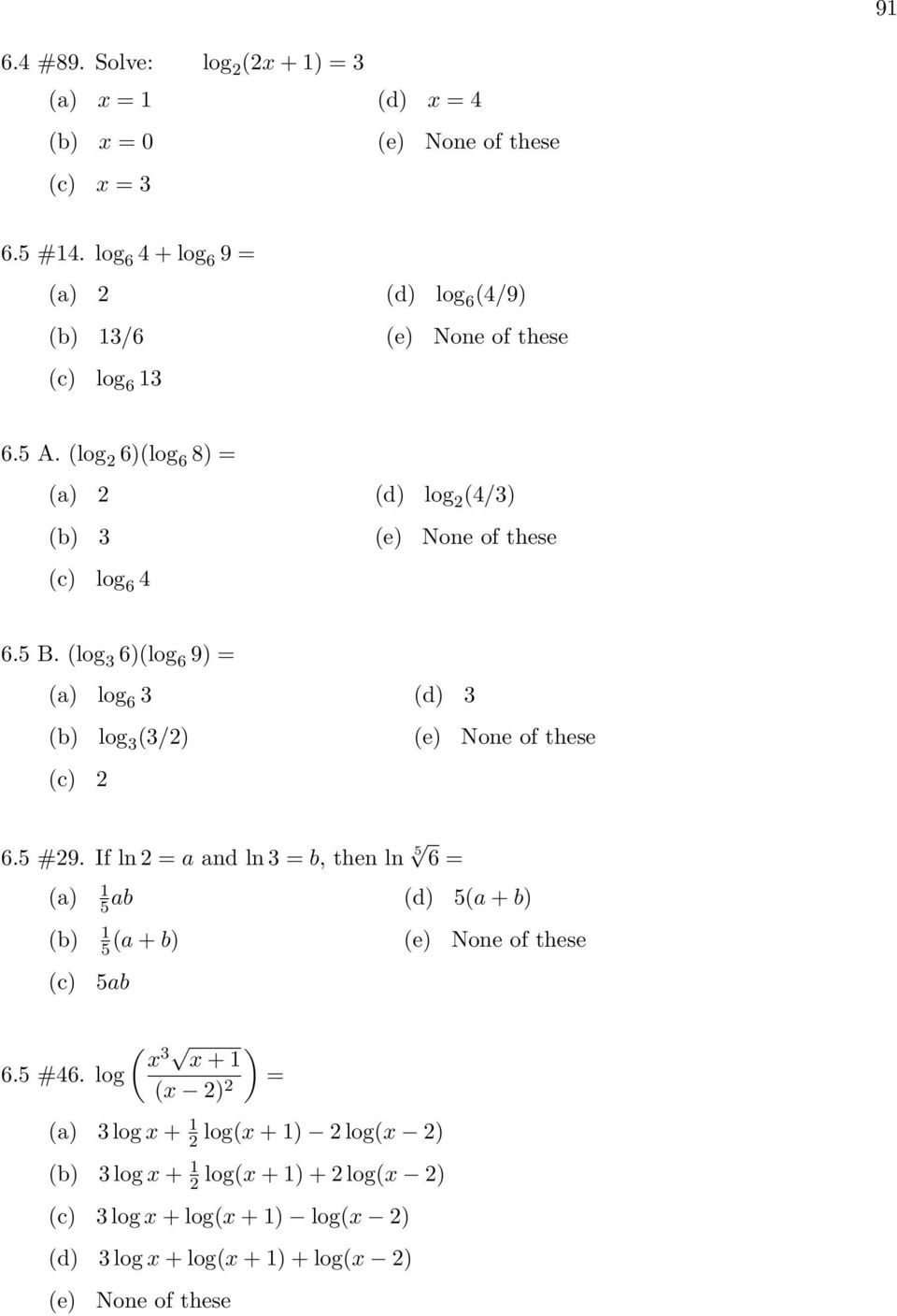 Exponential And Logarithmic Functions - Pdf Free Download