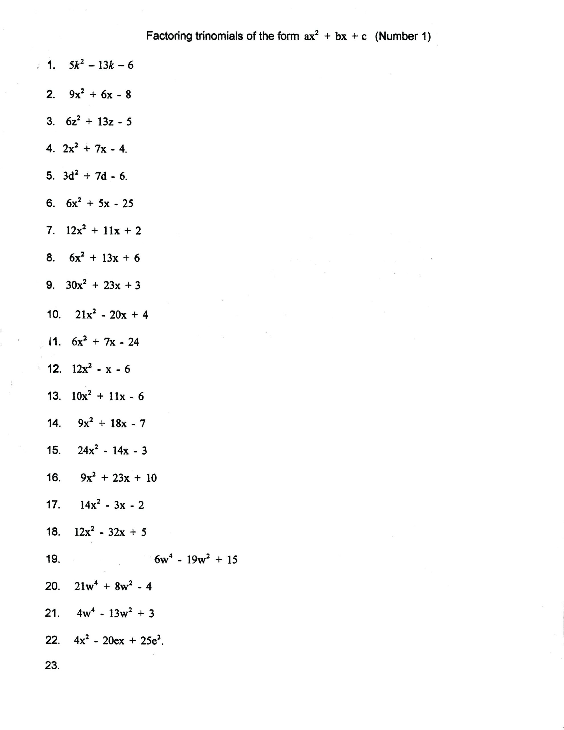 Factor Worksheet Printable Worksheets And Activities For
