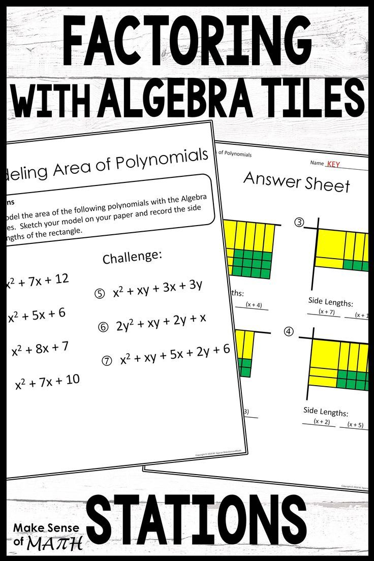 Factoring And Multiplying Polynomials Stations In 2020