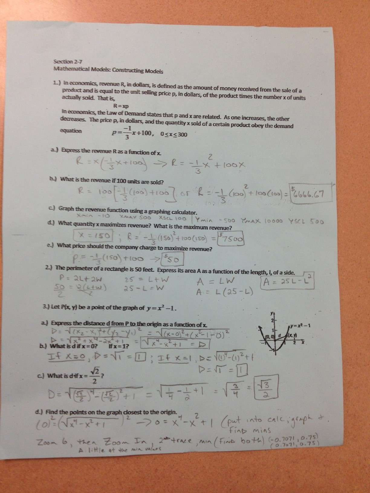 Formalizing Relations And Functions Worksheet Answers