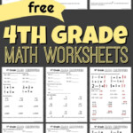 Free 4Th Grade Math Worksheets Printable Year Test Great