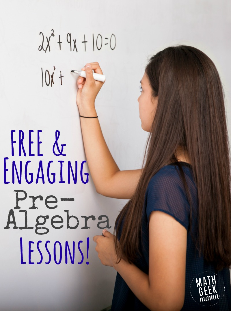 Free Printable Pre-Algebra Lessons And Resources