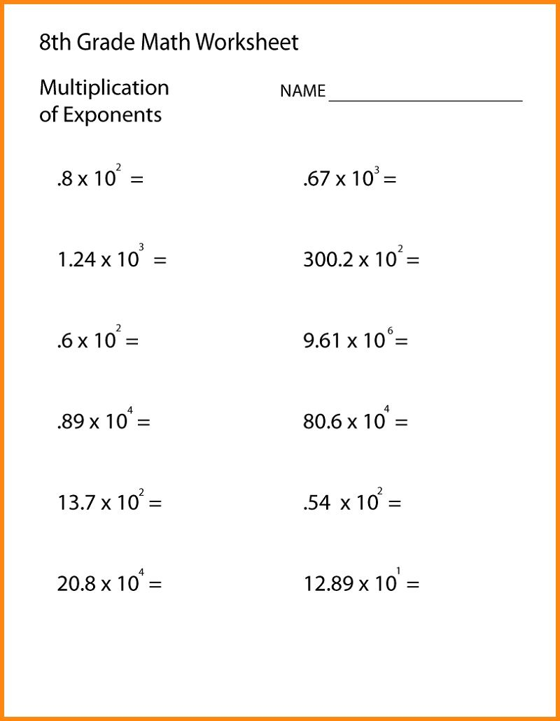 Grade 8 Math Worksheets | Printable Shelter In 2020 | 8Th