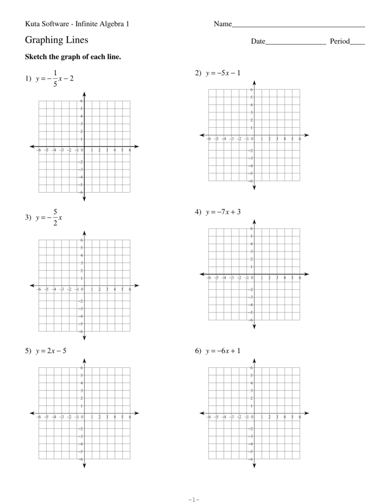 Graphing Lines Si