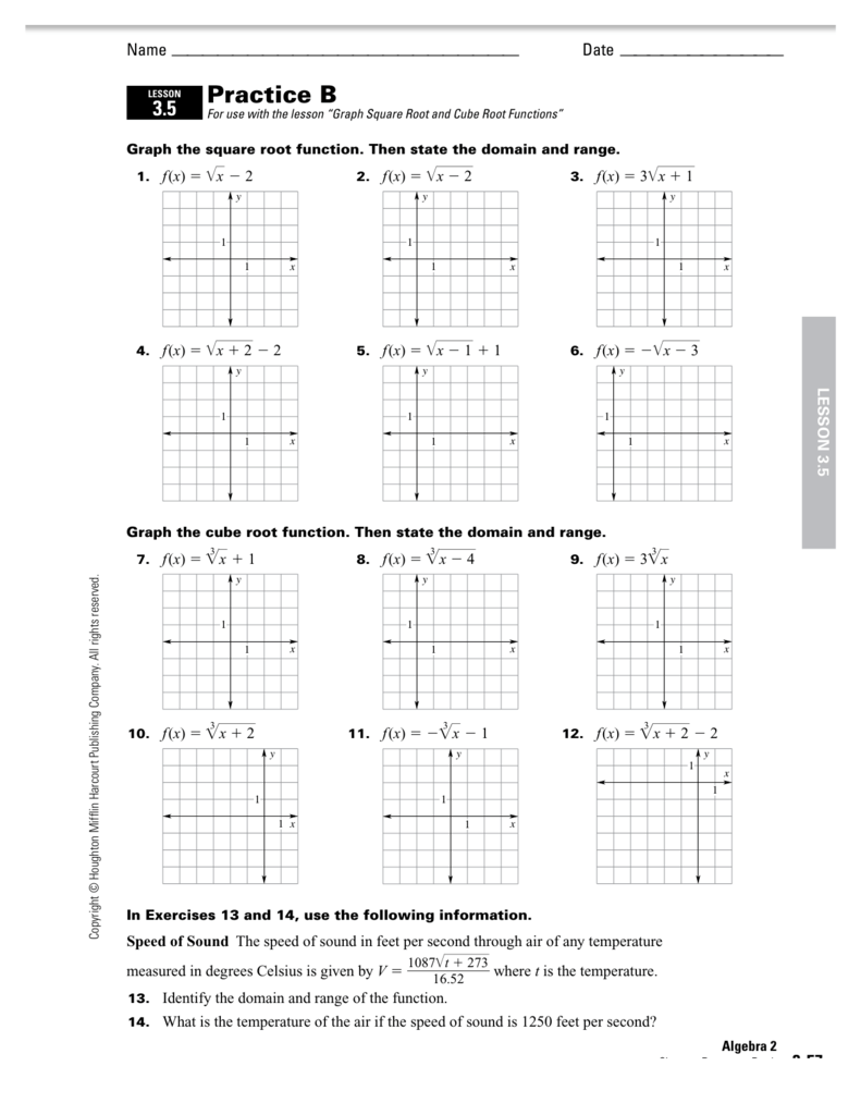 Graphing Square Root Functions 2