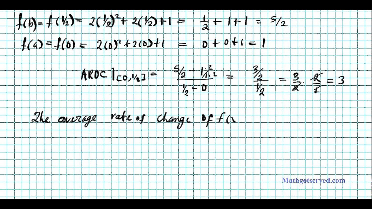 Instantaneous And Average Rate Of Change Ap Calculus Ab Bc