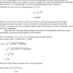 Interesting Proofs For The Circumference And Area Of A