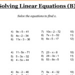 Ks3 Maths Worksheets With Answers Cazoom Algebra Year