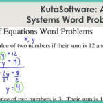 Kutasoftware: Algebra 1- Systems Of Equations Word Problems