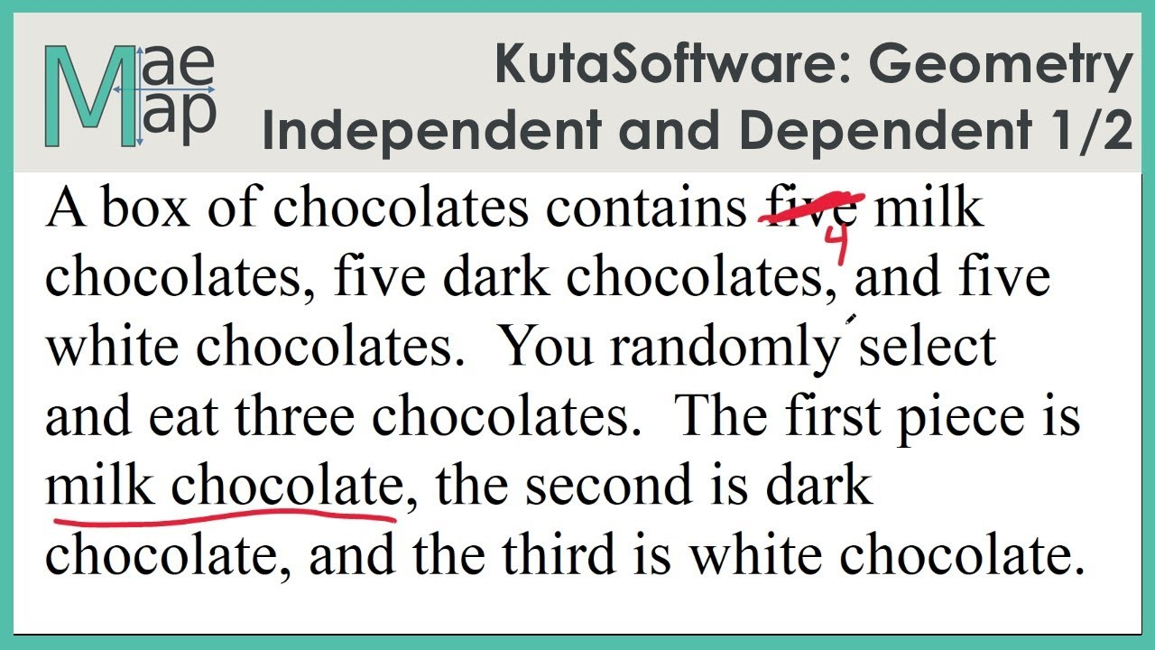 Kutasoftware: Geometry- Independent And Dependent Events Part 1