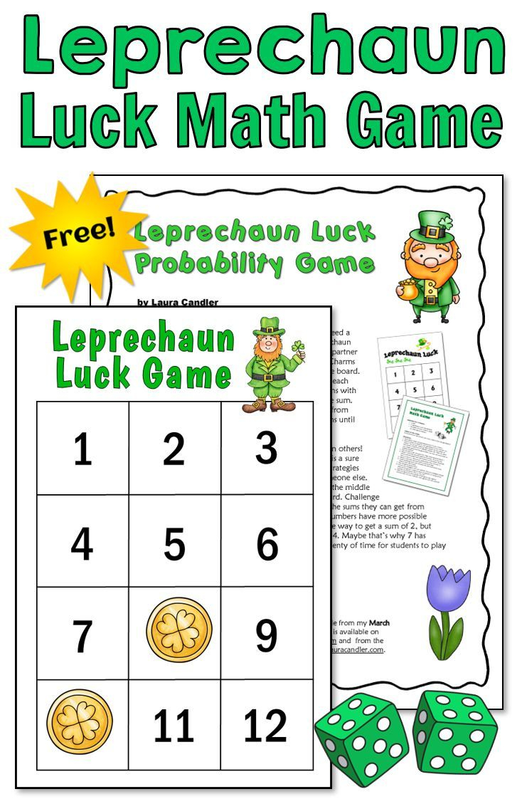 Leprechaun Luck Free Math Game For St. Patrick's Day In 2020