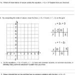 Linear Equations Worksheet With Answers Classifying