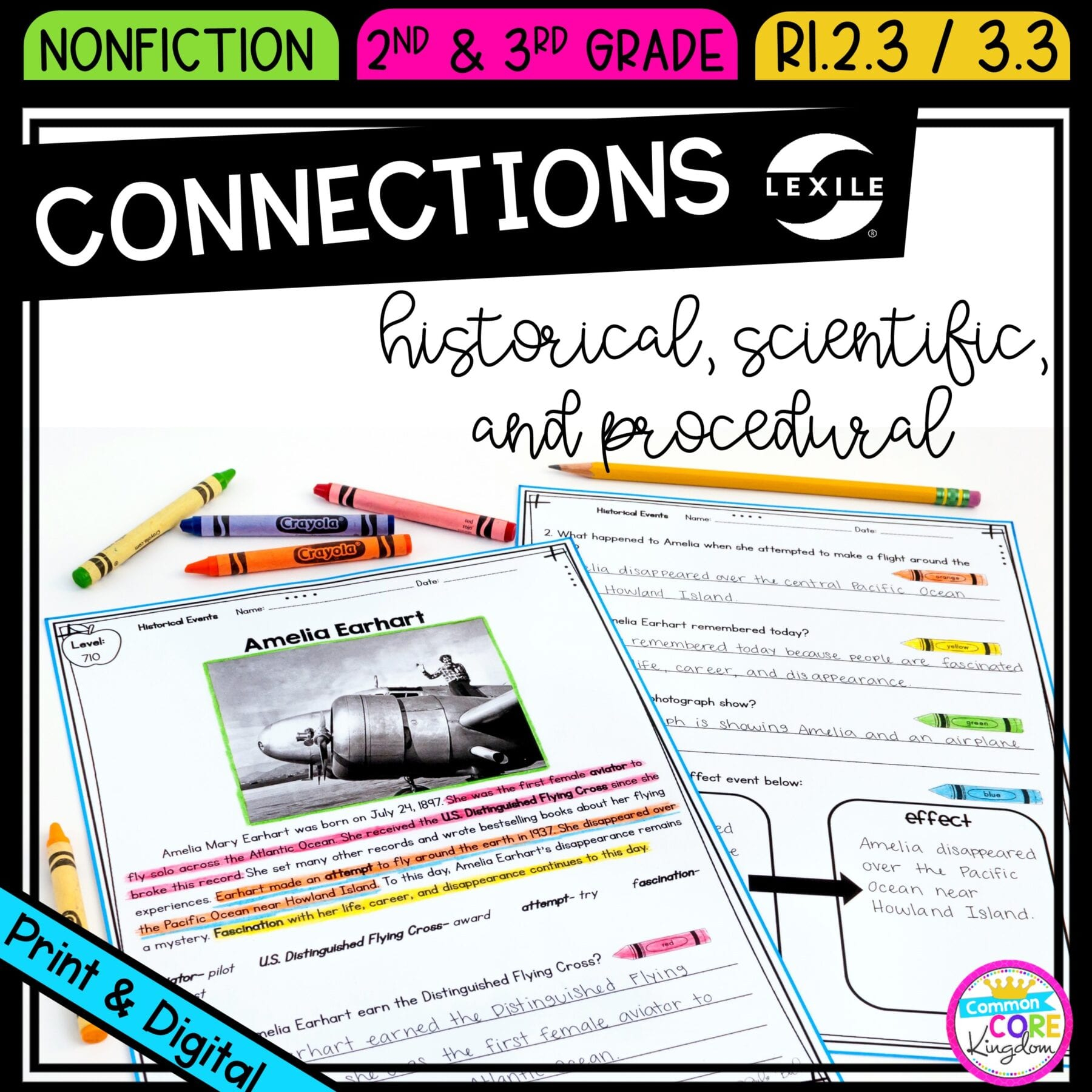 Making Connections - Ri.2.3 & Ri.3.3 Printable & Digital Google Slides  Distance Learning Pack