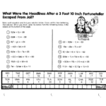 Math Pizzazz Worksheets Answers 68 | Printable Worksheets