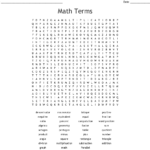 Math Terms Word Search - Wordmint