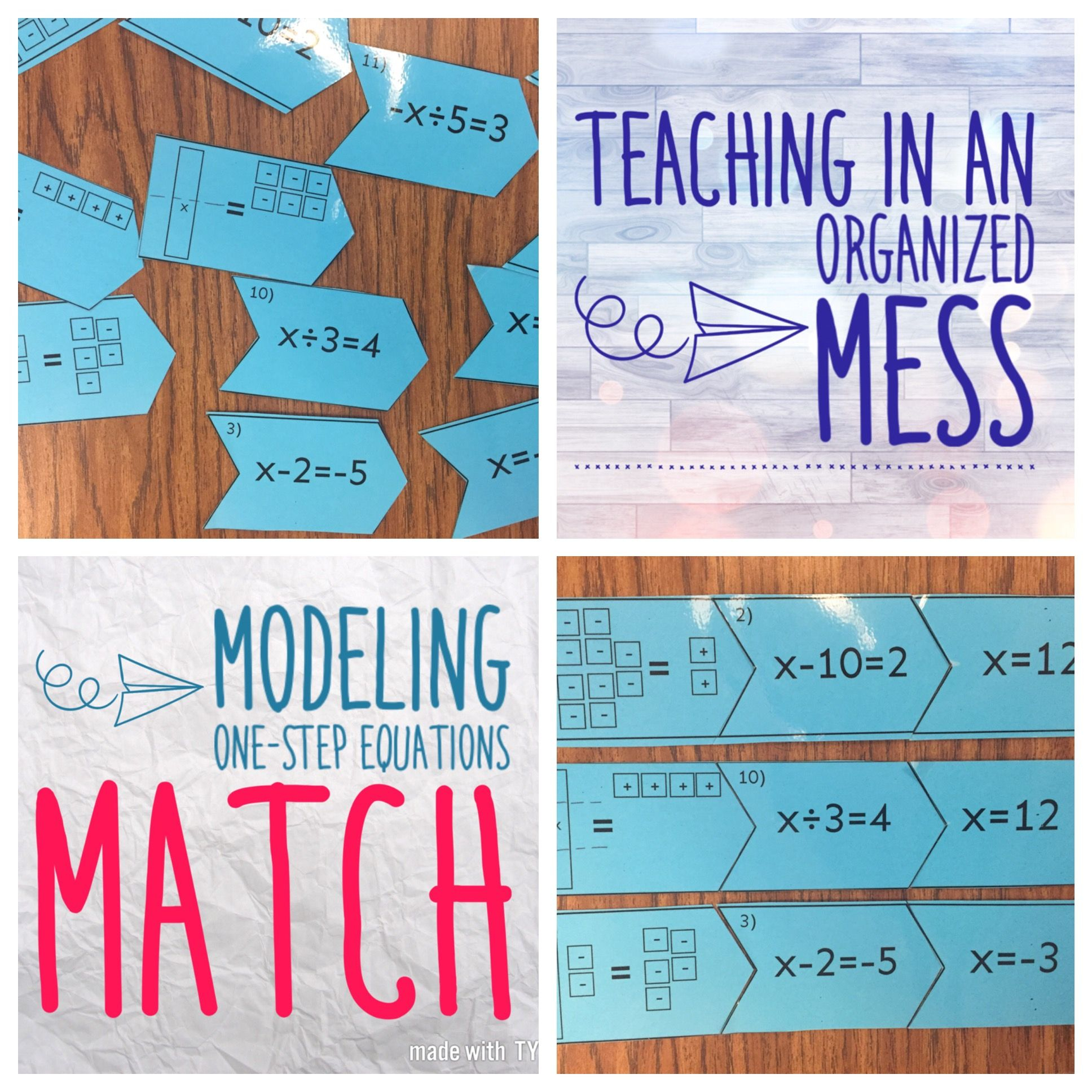 Model One Step Equations With Algebra Tiles   One Step