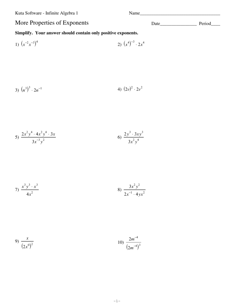 More Properties Of Exponents