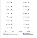 Order Of Operations Worksheets For Order Of Operations With