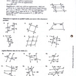 Parallel Lines And Angles Worksheet Answers   Printable