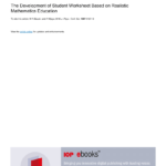 Pdf) The Development Of Student Worksheet Based On Realistic