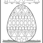 Pinalison On Easter Worksheets Shapes Best For First